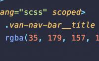 scss文件中使用深度选择器/deep/报错 Expected selector